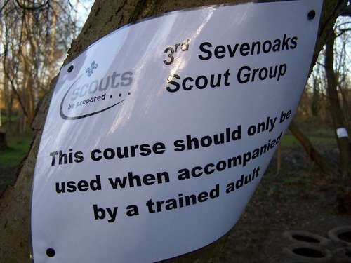 Safety notices throughout the course